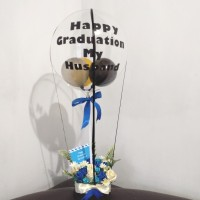 buket balon wisuda graduation bouquet ultah valentine kartu