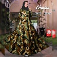baju gamis wanita muslim dress armina army gamis busui by iragading