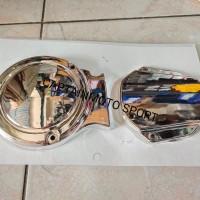 cover tutup blok bak magnet kopling Yamaha RX king chrome