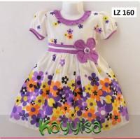 Baju Dress Anak Perempuan untuk Umur 2 Tahun Bahan Katun Jepang Adem