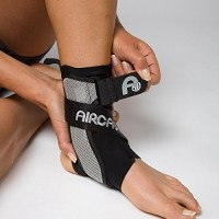 Aircast A60 Ankle Support Brace, Left Foot, Black, Small (Shoe Size: M