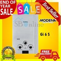 Water Heater Pemanas Air Gas Rapido INOX GI 6 S Modena - Harga Pabrik