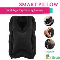 Smart Pillow Travel Bantal Angin Tiup Peluk Tidur Perjalanan Traveling