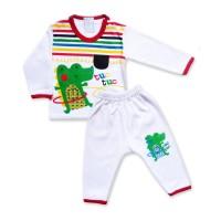 Skabe Piyama Baju Anak Laki Laki Buaya Baby Putih Usia 3-4 Bulan 2767