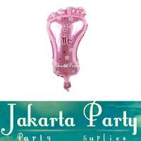 Balon Foil Kaki Bayi Mini Pink / Balon Baby Shower / Balon Dot