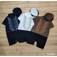 Baju Koko Bayi Romper Jumper Koko + Peci + Selendang - Trend Star