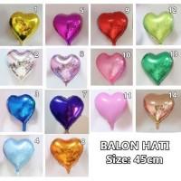 Balon Foil Hati Love Besar Baloon Heart Foil Party TERMURAH 45cm BL01