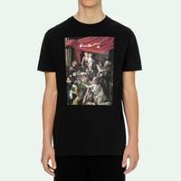 Off White Caravaggio Painting S/S Slim FIT T-shirt Black 100% Original