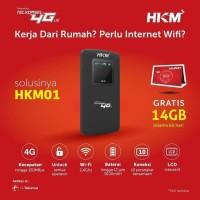 Mifi Modem Wifi 4G All Operator HKM BL3 Free Perdana Kuota [UNLOCK] - Hitam