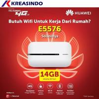 Huawei E5576 Mifi Router Modem Wifi 4G Free Telkomsel 14Gb