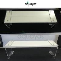 Lamphood 60cm dudukan akrilik + Heatsink aluminium lampu hpl aquascape
