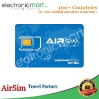 AIRSIM Travelling SimCard Travel 90+ Negara Data Unlimited Internet