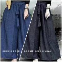 Celana Kulot Size Jumbo Berbahan Jeans Tebal dan Adem - Navy BLACK