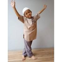 Setelan baju koko turki anak laki-laki usia 1-9 tahun / baju muslim