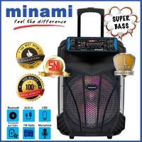 Minami PARTY BOX 120 SPEAKER AKTIF PORTABLE meeting bluetooth 12 inch