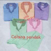 Baju Seragam Suster / Baby Sitter / Nanny - Baju Pendek Celana Pendek