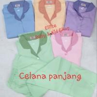 Baju Seragam Suster/Baby Sitter/Nanny - Baju Pendek Celana Panjang - Biru, S