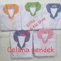 Baju Seragam Suster/Baby Sitter/Nanny - Baju Pendek Celana Pendek