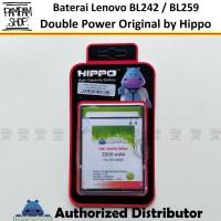 Baterai Hippo Double Power Original Lenovo BL259 Vibe K5 K5 Plus K5+