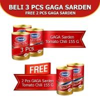 GAGA Sarden Tomat & Cabe 155g. Beli 3pcs FREE 2pcs (kode 46)
