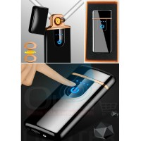 SLIM Styles Korek Api Elektrik Fingerprint Sensor LED recharger