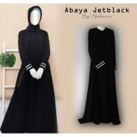 Gamis Abaya Jetblack hitam Pekat