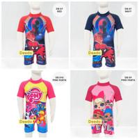 Baju renang bayi baby diving terusan jumpsuit karakter - All Size