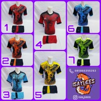 Baju Kaos Jersey Olahraga Pria/Wanita Futsal Volly Sepakbola Badminton