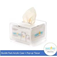 Wateru Premium Bamboo Tissue / Tisu Bambu - Table PopUp 150s + Acrylic