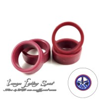 Rep Tamiya 95208 Low Friction Low Profile Tire / Ban M (Red) -BRM11