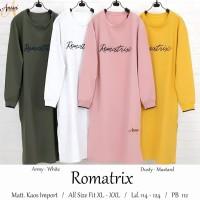 baju atasan romatrix tunik kaos muslin wanita simple terbaru kekinian
