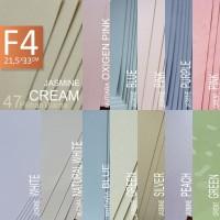 kertas jasmine A4 F4 kertas krem putih pink biru hijau ungu Backdrop