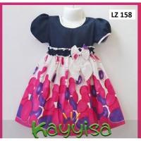 Baju Dress Anak Perempuan Terusan umut 3-5 Tahun Bahan Katun Jepang