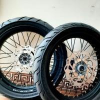 velg set supermoto full set SUPERMOTO klx bf D tracker ban set roda