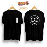 Kaos T-Shirt Distro Pria ANIME NARUTO RINNEGAN SHARINGAN UCHIHA SASUKE