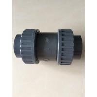 Ball Check Valve PVC 2 1/2 Inch Double Watermur