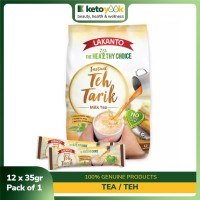 LAKANTO Instant Teh Tarik (Milk Tea) (3-in-1 | 35g x 12 Sticks)