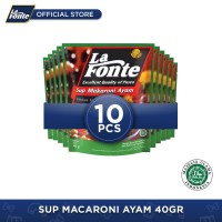 10 Pcs - La Fonte Sup Macaroni Ayam 40gr