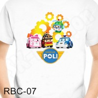 Baju Kaos Anak Robocar Poli -Rbc 07 Gratis Cetak Nama