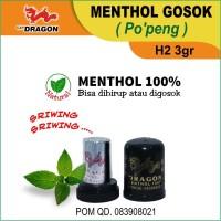 Menthol Gosok Cap Dragon (Po'peng) H2 3gr