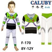 Piyama Anak Buzz Lightyear Toy Story size besar 8 9 10 11 12 tahun