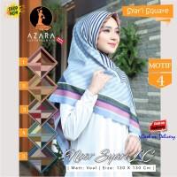 Jilbab Segi Empat Noor Syari LC Voal Motif 4 by Azara Scarf - Hijab
