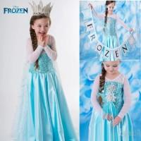 baju dress anak frozen Elsa dress kostum Elsa