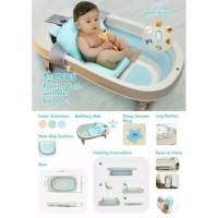 Bak Mandi Bayi Lipat / KARIBU BEVOS Folding Bath With Mat / Bath Tub