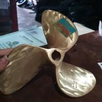 kipas propeller baling baling kapal perahu kuningan D 11