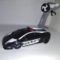 RC Race Tin Auldey Lamborghini Gallardo Police - 1:28 Remote Control