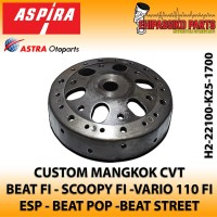 Mangkok Kampas Ganda Custom anti Geredek Beat Fi Scoopy Fi Vario 110FI