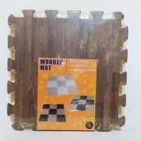 Karpet Puzzle Wooden Mat Motif Kayu uk 30x30x1cm 9pcs