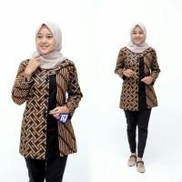 Blouse wanita - lengan panjang - Kombinasi Batik - Fashion wanita