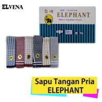 Sapu Tangan Pria ELEPHANT / GAJAH Uk.38x38 Cm MURAH Warna Muda